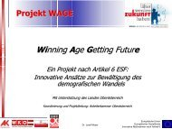 Projekt WAGE Winning Age Getting Future - Exabis