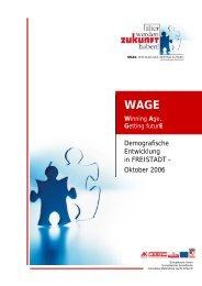 Demografische Entwicklung in FREISTADT - Oktober 2006 - Exabis
