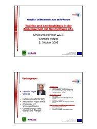 Training und Lernbegleitung in der Bildungsarbeit mit ... - Exabis