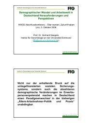 Demographischer Wandel und Arbeitswelt in Deutschland ... - Exabis
