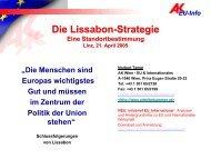 EU-Info Scheitert die Lissabon-Strategie? - Exabis