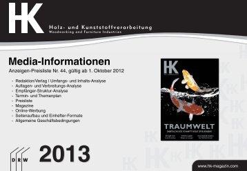Media-Informationen - Holz-Zentralblatt