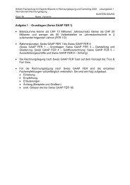 Aufgabe 1 - Grundlagen (Swiss GAAP FER 1 ... - Examen