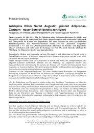 Gründung eines Adipositas-Zentrums für Kinder und Jugendliche