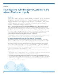 Four Reasons Why Proactive Customer Care Means ... - Aspect