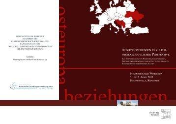 Programm/Flyer - Kulturelle Grundlagen von Integration