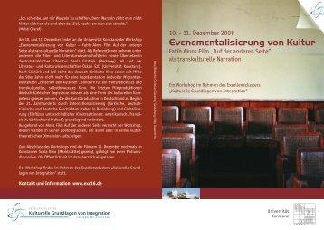Evenementalisierung von Kultur - Kulturelle Grundlagen von ...
