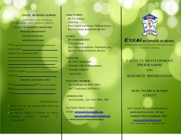 Download FDP Brochure - Excel Group Institutions