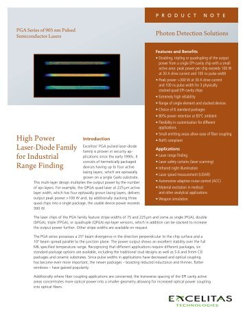 Quasi Continuous Wave 980 Nm Laser Diode Excelitas