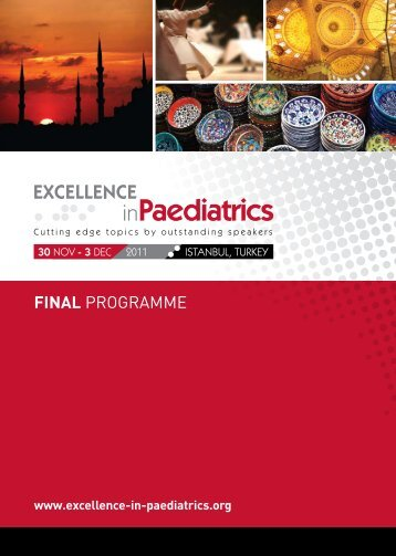 2011 Final Programme - Excellence in Paediatrics Institute