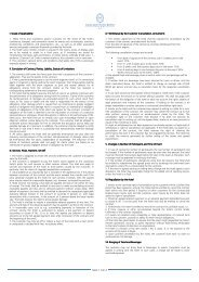 Gerneral Terms and Conditions - Excelsior Hotel Ernst