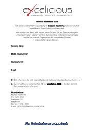 Kopie von Follow-Up survey - Excelsior Hotel Ernst