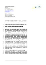 PRESSEMITTEILUNG - exchangeBA