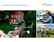 Exelon Corporation 2011 Sustainability Report Creating Value in ...