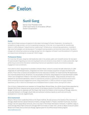 Sunil garg exelon