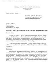 FEDERAL ENERGY REGULATORY COMMISSION Project No. 2355 ...