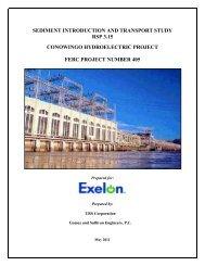 Sediment Introduction and Transport Study Conowingo RSP 3.15