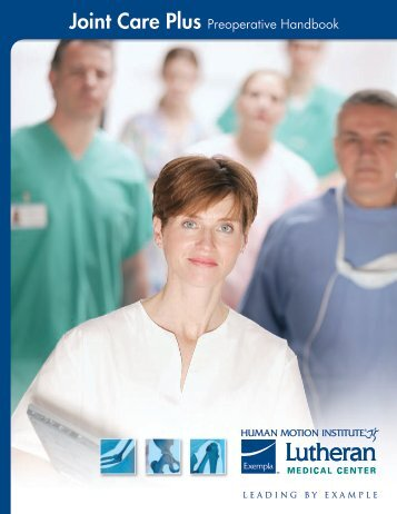 Joint Care Plus Preoperative Handbook - Exempla Healthcare