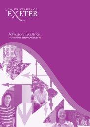 Grad school app 06 - University of Exeter