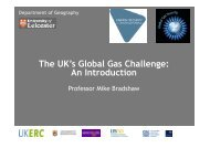 The UK's Global Gas Challenge: An Introduction - University of Exeter