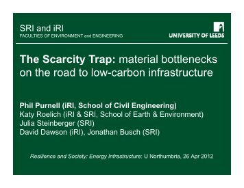 The Scarcity Trap: material bottlenecks The Scarcity Trap: material ...