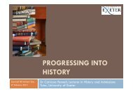 Progressing into History - Cornwall event - University of Exeter