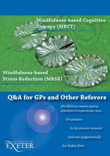 Mindfulness GP Q&A leaflet - Exeter Mindfulness Network