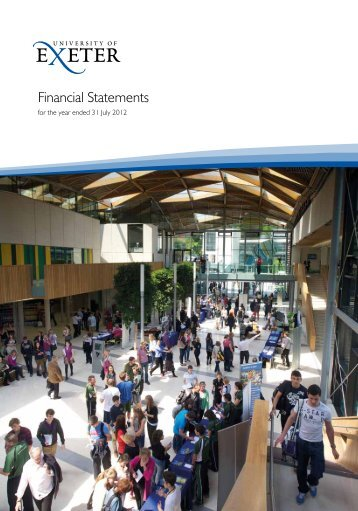 Financial Statements - University of Exeter