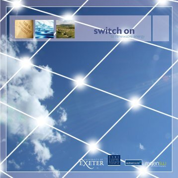 Switch on to renewable energy - University of Exeter
