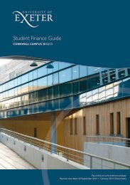 Cornwall 2012/13 Finance Guide - University of Exeter