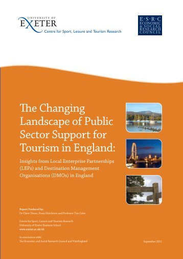 The Changing Landscape of Public Sector Support for Tourism in ...