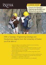 Geology - University of Exeter