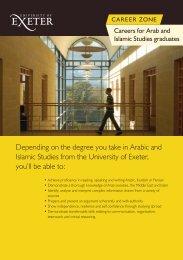 Arab and Islamic Factsheet (.pdf) - University of Exeter