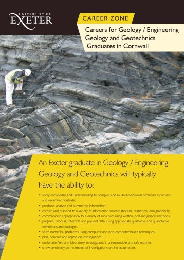 An Exeter graduate in Geology / Engineering Geology and ...