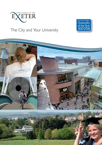 Corporate Responsibility Brochure (.pdf) - University of Exeter