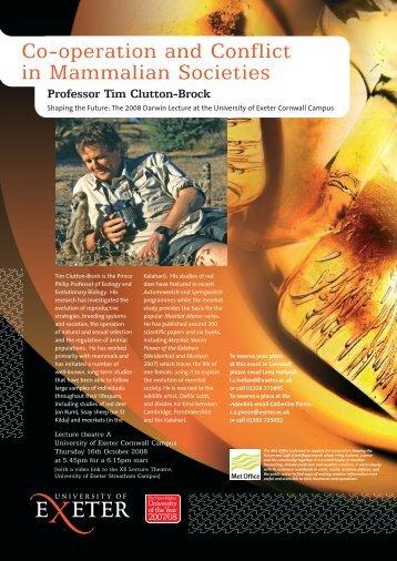 Professor Tim Clutton-Brock - University of Exeter