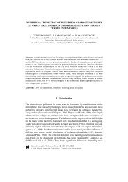 NUMERICAL PREDICTION OF DISPERSION CHARACTERISTICS ...