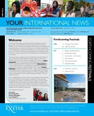 Your International News - May 2013 - University of Exeter