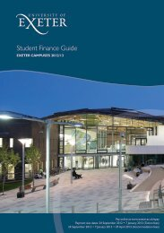 Student Finance Guide - University of Exeter