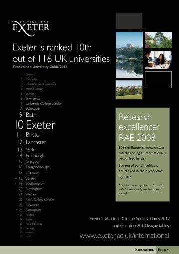 10 Exeter - University of Exeter
