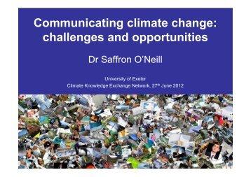 Communicating climate change - University of Exeter