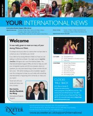 Your International News - October 2011 - University of Exeter
