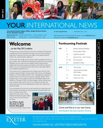 YOUR INTERNATIONAL NEWS - University of Exeter
