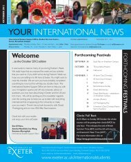 Your International News October 2012 - University of Exeter