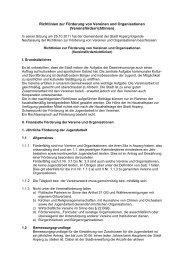 Richtlinien zur Förderung von Vereinen und ... - Stadt Asperg