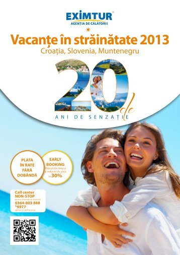 Catalog vacante externe: Croatia, Slovenia, Muntenegru - Eximtur