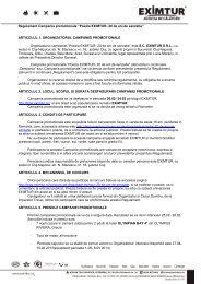"""Regulament Campania promotionala """"Poezia EXIMTUR- 20 de ani ..."""