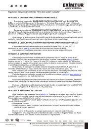 """Regulament Campania promotionala """"Orice zbor poate fi ... - Eximtur"""