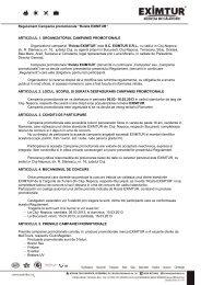 "Regulament Campania promotionala ""Ruleta EXIMTUR ..."
