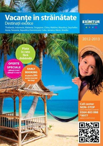 Destinatii exotice 2012 - 2013 - Eximtur